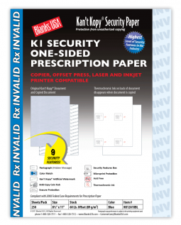 K1 Kan't Kopy Offset Rx Paper