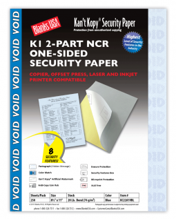 Kan't Kopy 2 Part Carbonless Security Prescription Paper